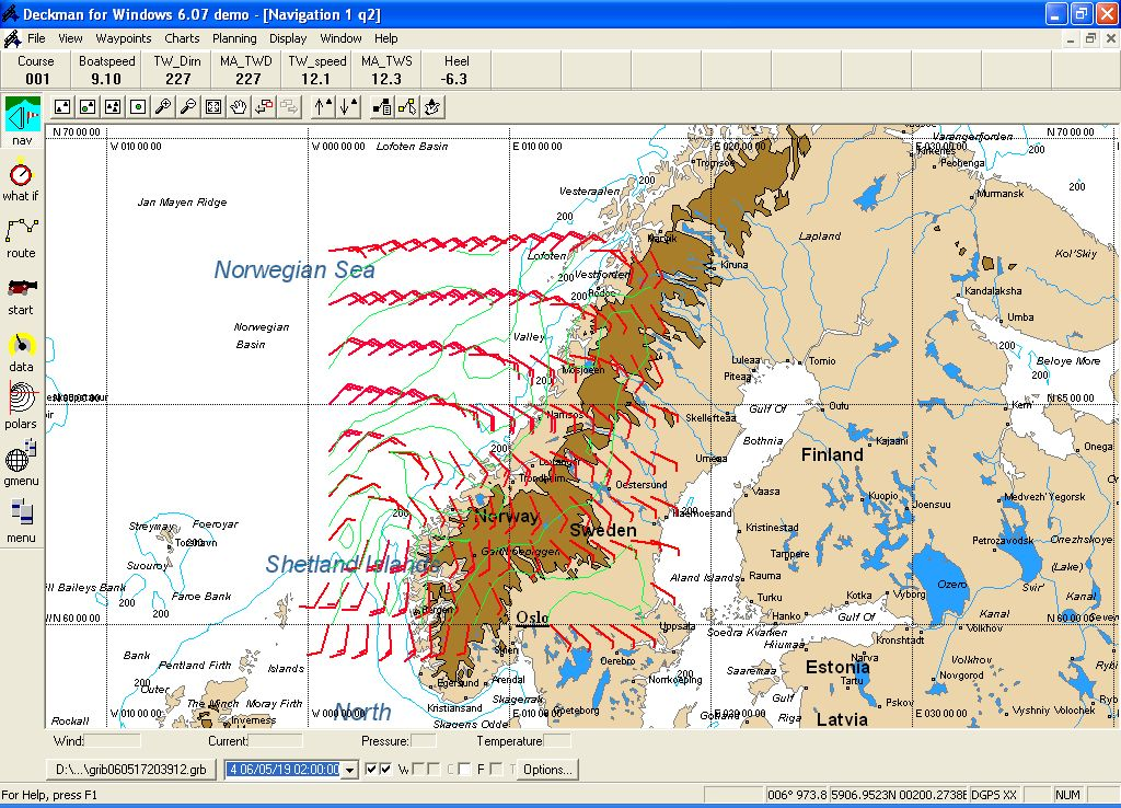 Wetterkarte Norwegen